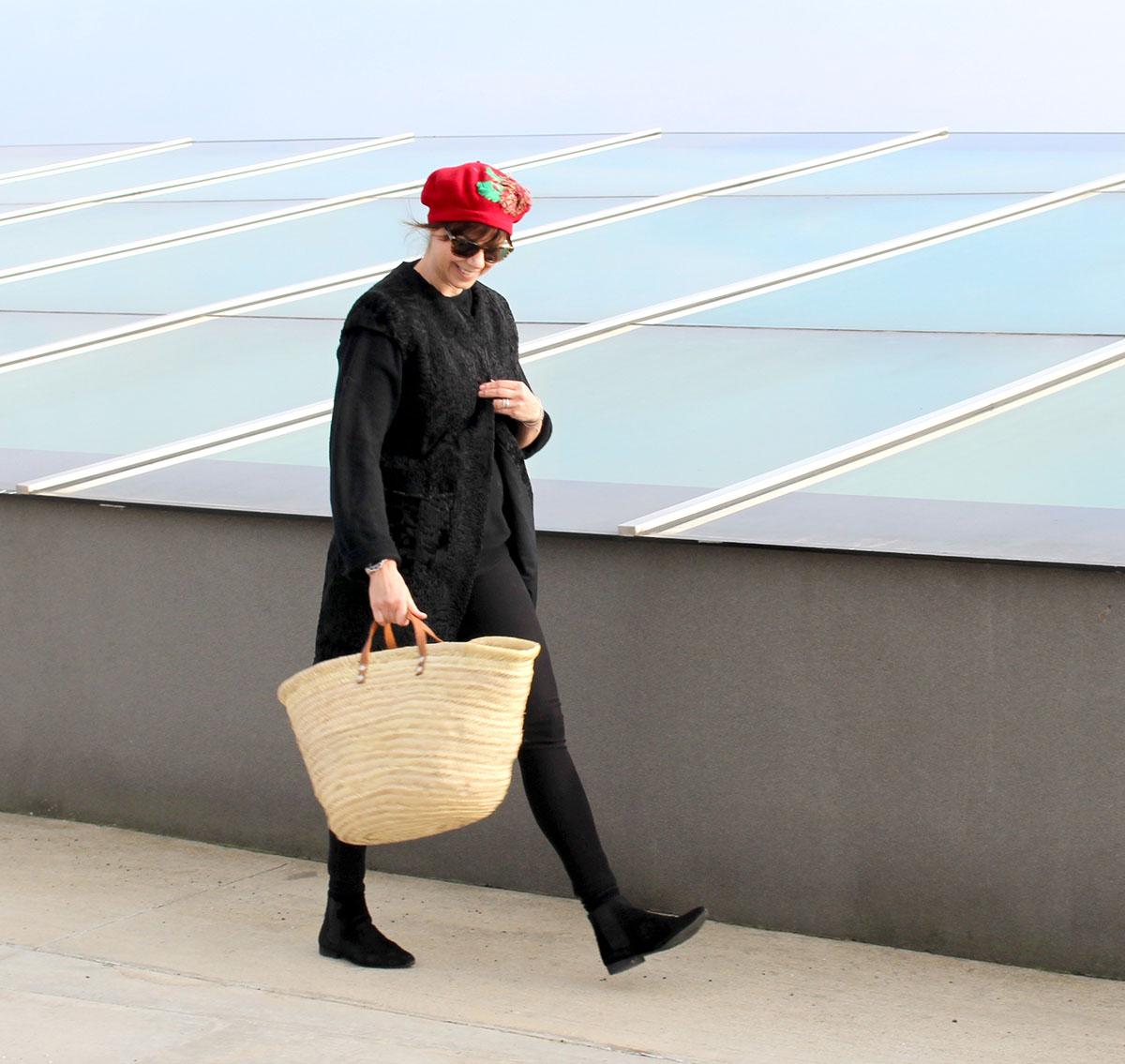 persianova vesta s rukavky a kapsami